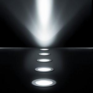 Lampy wbudowane w podłogę